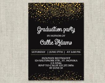 graduation party invitation template  etsy, invitation samples