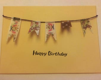 Birthday card / A6 / hand made greeting card / bykarinbuchnielsen
