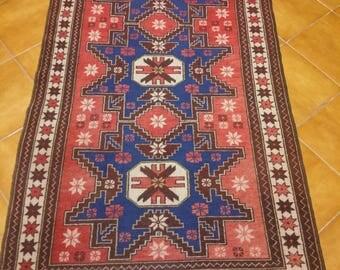 Vintage rug Balikesir rug  hand made rugs size 6.56x3.51 feet(200x107cm