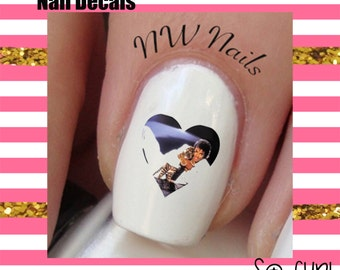 Michael Jackson Heart Nail Art Decals