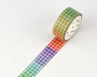 Colourful Grid Washi Tape Masking Tape Planner Stickers Scrapbooking Stickers