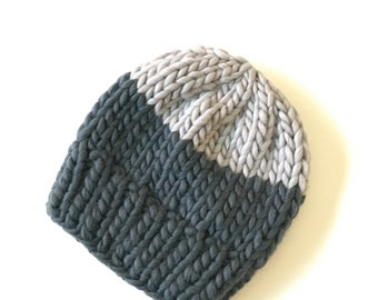 Chunky knit toque colour block - youth
