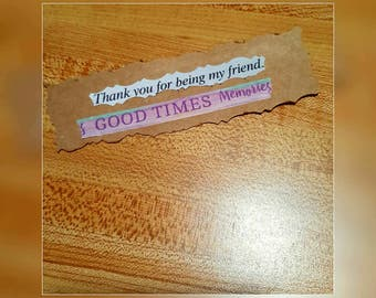 Nice Thank You For Being My Friend Bookmark