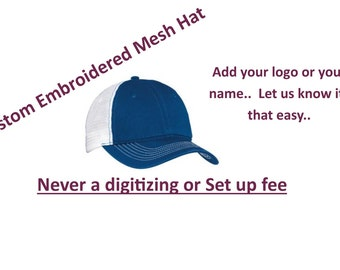 Richarson 111 Unstructured Washed Truckers Hat with Custom Embroidery
