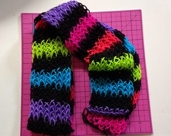 Knitted Scarf - Neon Stripe color