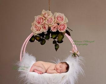new born Digital backdrop  /Swing Floral/prop