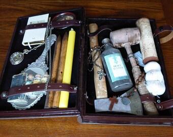 Vampire Hunting Kit Horror Prop Oddity Curiosity Sideshow Museum