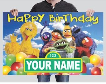 BANNER - Sesame Street Birthday Banner