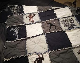 Made to order,doctor who baby rag quilt,baby blanket,baby quilt,throw balnket