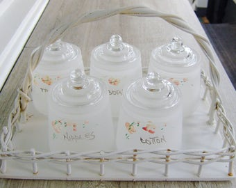 Vintage Nursery Glass Containers