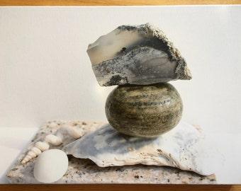 Modern Photo Balance Spa Stones zen gallery  canvas wrap original art