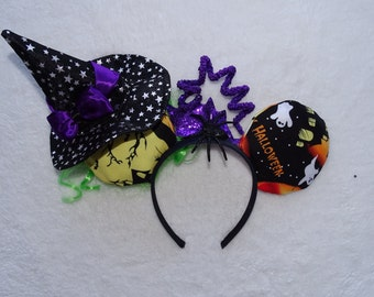 Mickey Mouse Headband Minnie Mouse Ears Halloween Inspired headband Mickeys not so scary Halloween Headband
