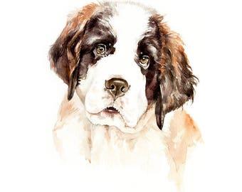 Watercolor original pet art gift pet lovers portrait commission personalize portrait pet art illustration custom portrait dog pet supplies