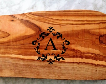 Engraved Olive Wood Serving Board, Cutting Board