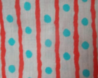 Polka Dot and Stripes Fabric by the yard