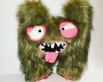Monster Plush Toy, Furry Monster, Toy for boy, Birthday gift, Fun Gift, Plushie, Cute monster doll.