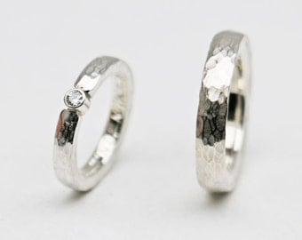 Wedding rings forged & brilliant