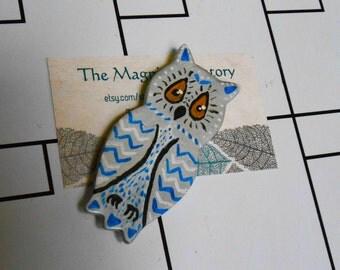 Handpainted Sweater Owl Magnet