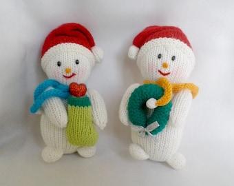 A pair of snowmen Christmas snowman handmade toys christmas toys
