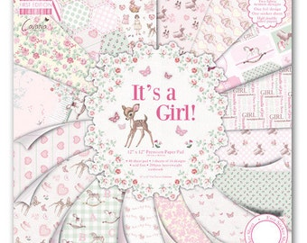 """Lot of 16 papers Fantaisis """"First Edition"""" 30.5 cm IT's A GIRL"""
