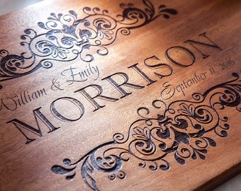 Wedding signs Personalized Cutting Board Engraved Kitchen Home Decor Wedding Gift Housewarming Anniversary Wood Monogram Wedding signs