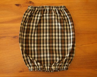 Brown Plaid Dog Snood - Large Dog Snood - Dog Snood - Ear Coverings - Dog Accessories