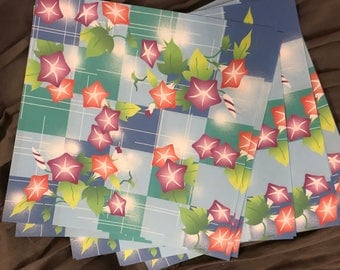 Bright colored origami paper