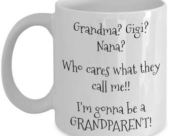 First Time Grandparents Gifts - Worlds Greatest Grandma Gigi Nana Coffee Mug - Promoted to Grandma! 11 oz Cup - Grandparents Reveal Gift