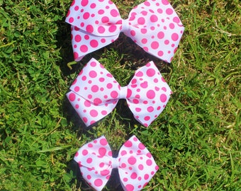 Pink Polka Dot Boutique Bow