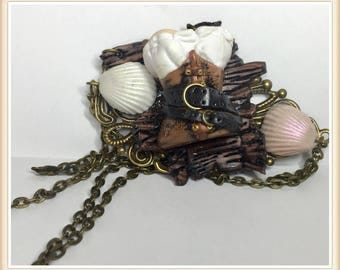 Dough polymer Corset Pirate necklace