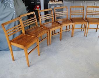 Set of 6 chairs René Gabriel 1950 by Vibo Vesoul