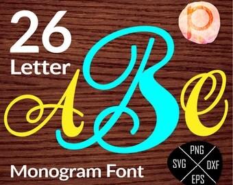 Fancy Single Letter Monogram*Initial Font Letters Alphabet*monogram svg*clipart,eps,dxf,png*Cutting Files*Cricut*Silhouette Studio*Sure Cuts