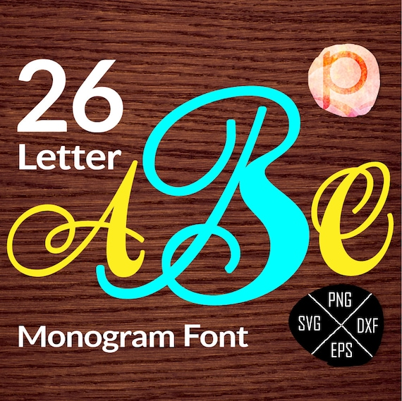 Fancy Single Letter Monograminitial Font Letters