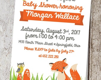 Wilderness Baby Shower Invitation