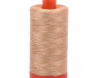 Aurifil Mako Cotton Thread Solid 50wt 1422yds Cachemire 1050-2318
