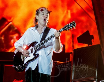 Angus Young, AC/DC, Color Photo, Fine Art Print