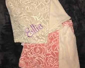 Cozy baby girl blanket