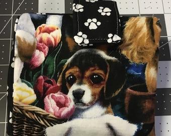 Bi Fold Wallet Puppy Print Puppy Paws