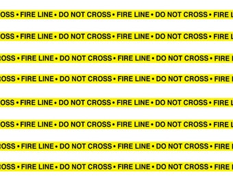 1:25 G scale fire line do not cross scene barrier tape