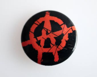 "Anarchy - 1"" Pin Back Punk Button Badge"