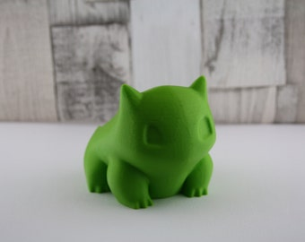 3D Printed Bulbasaur Planter. Pokemon inspired succulent/ cactus inspired planter