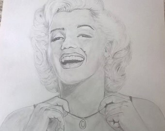 Marilyn Monroe Print from my original Pencil drawing