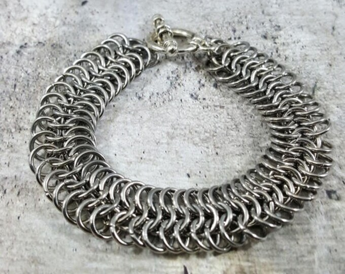 Stainless Steel Handmade Unisex Chainmail Bracelet