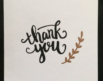 Pack of 5 Thank you cards with copper detail