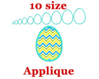 Easter egg applique machine embroidery design. Easter Egg Frame. Easter applique design.