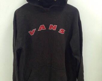 Vintage 90s Vans Hoodies Big Spell Out Skater/swagger/Hip Hop Brand Size Large