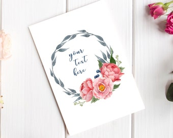 Personalised Mothers Day Card – Custom Card - Hand-Lettered Original Cards – Luxury Cards – Mum - Mam - Mummy - Mama - Mom