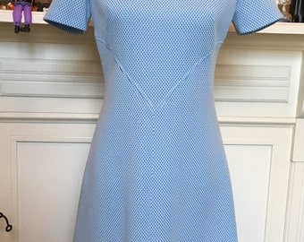 Blue and White Dress, Polyester