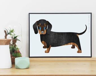 Dachshund Dog Graphic Print