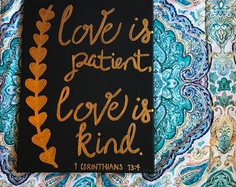 Love is Patient, Love is Kind painting